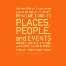 Prayer for Blessing - Orange