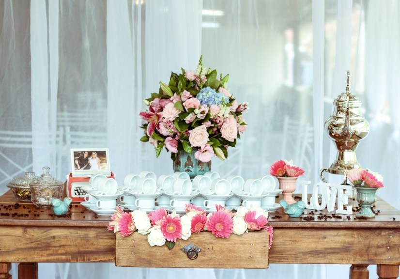 picture perfect tea theme party picture
