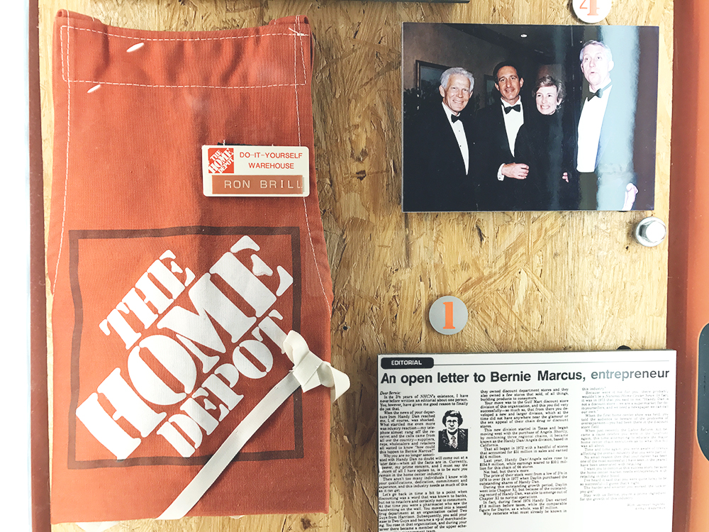 The founders of The Home Depot are Bernie Marcus and Arthur Blank, how cute are they?