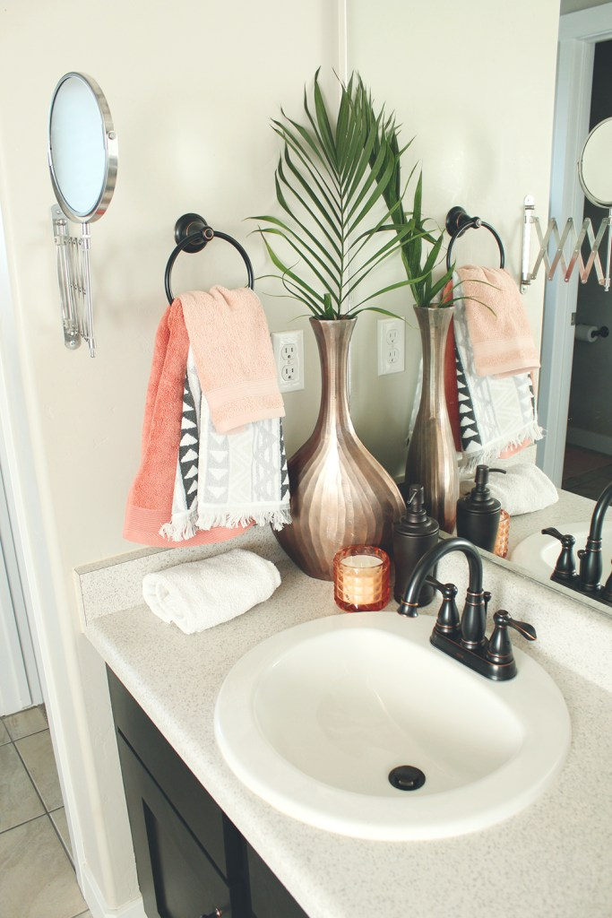 Epic Bathroom Update From Old To Bohemian Modern Oasis