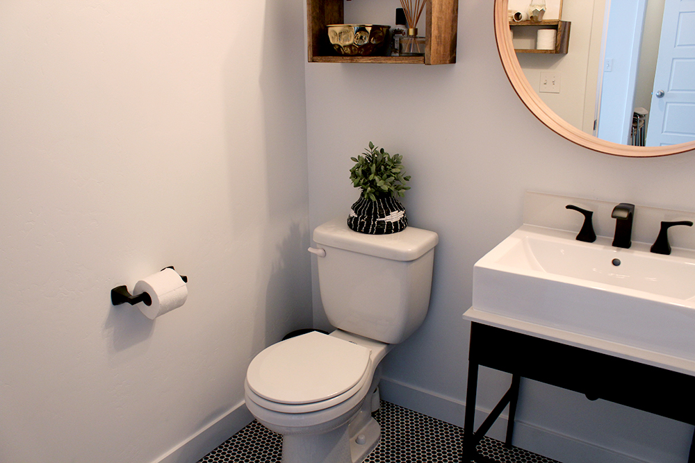 Before U0026 After Bathroom: Why Black Modern Hardware Can Make All The  Difference