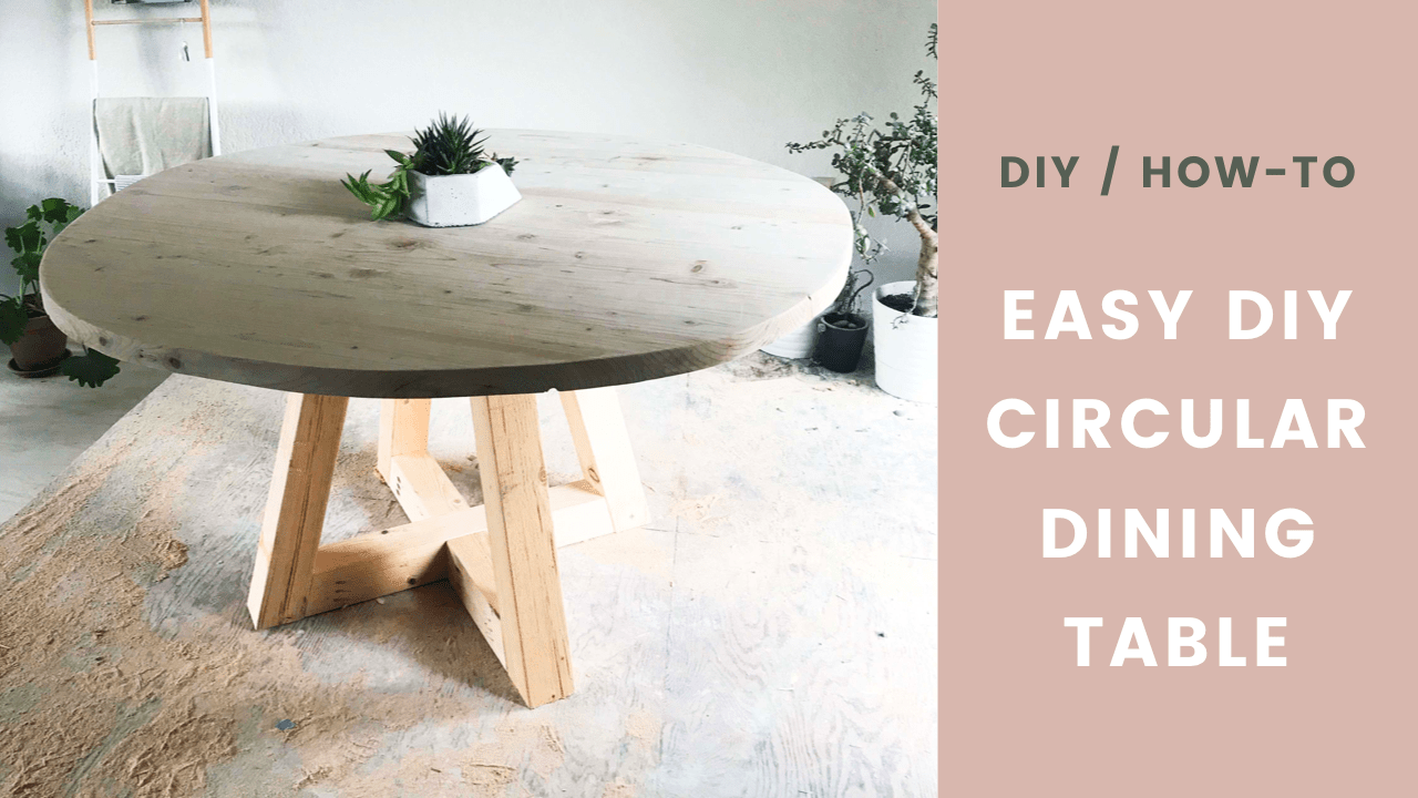 Diy Table Circular Dining Room Table With Wood Legs Easy How To Seeking Alexi Diy Boss