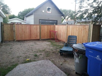 Finished the fence
