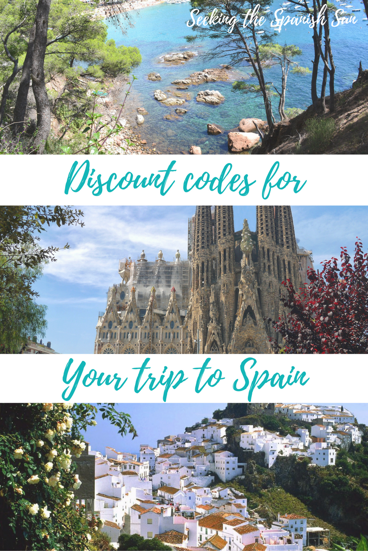 Discount codes for your trip to Spain including Airbnb, booking.com and MyTaxi all from Seeking the Spanish Sun travel blog
