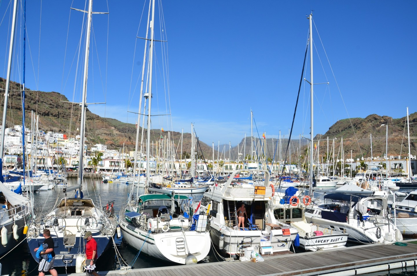 Charing port town in Gran Canaria