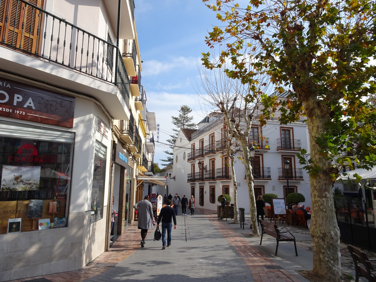 The streets of Nerja in Andalusia