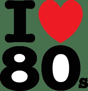 Download I love 80s Logo Vector (.EPS) Free Download