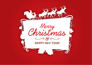 MERRY CHRISTMAS FRAME Logo Vector AI Free Download