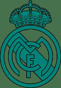 Escudo Real Madrid Blanco Y Negro Png