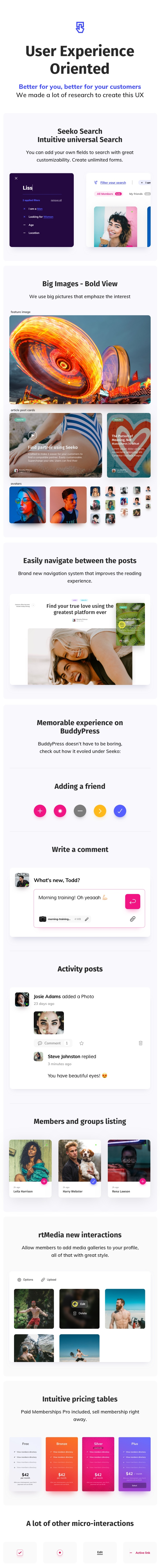 Seeko - Community Site Builder with BuddyPress SuperPowers - 10