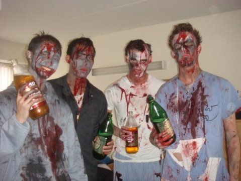 Zombies with 40s. Vicious.