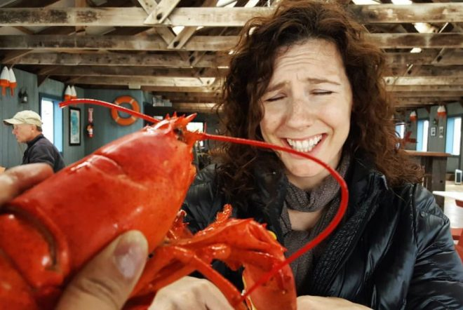 vinessa attacked by lobsters