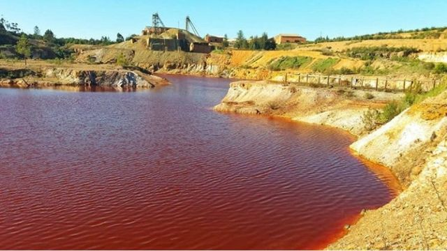 roter see lousal mine kupfersulfat portugal