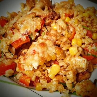 Ebly-Gratin mit Gemüse und Hähnchenbrust