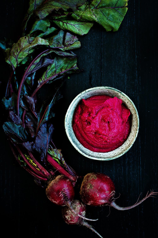 Quinoa Frikadellen   rote Bete Hummus   karamellisierter Apfel   seelenschmeichelei.de