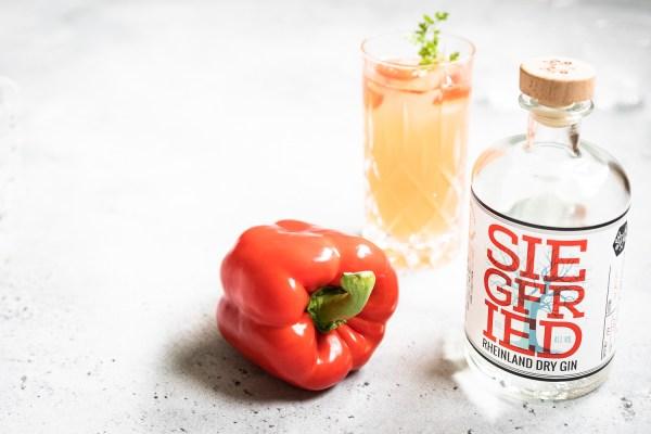 Gin Paprika Smash   Gin Cocktail mit Paprika  seelenschmeichelei.de