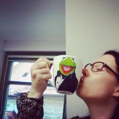 My lifesaver ♥ #pmdd17 #arbeit #coffeebreak #wachmacher #kermit (wirklich nötig, nach so wenig Schlaf die Nacht davor ;D)