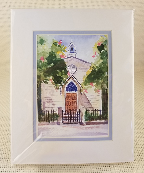 St. Mary's Chapel watercolor print