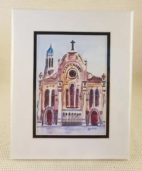 St. Mary's Church watercolor print