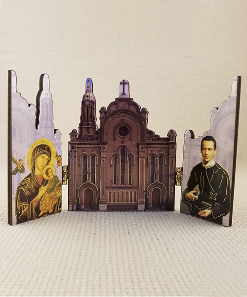 Our Mother of Perpetual Help Woodcut Triptych