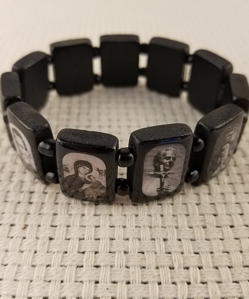 Black wood bracelet