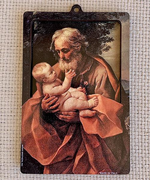 St. Joseph and Child 3D plaque