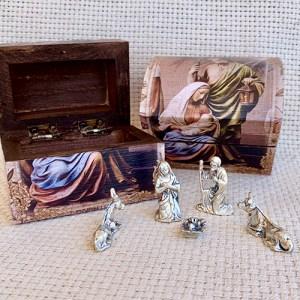 Wooden Box Nativity Set