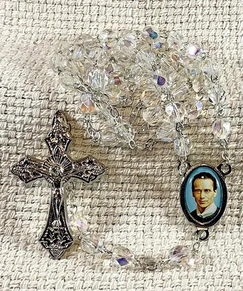 Clear Crystal Rosary