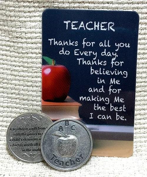 Teacher card and token set