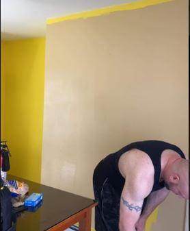 wake up yellow paint vs. tan paint