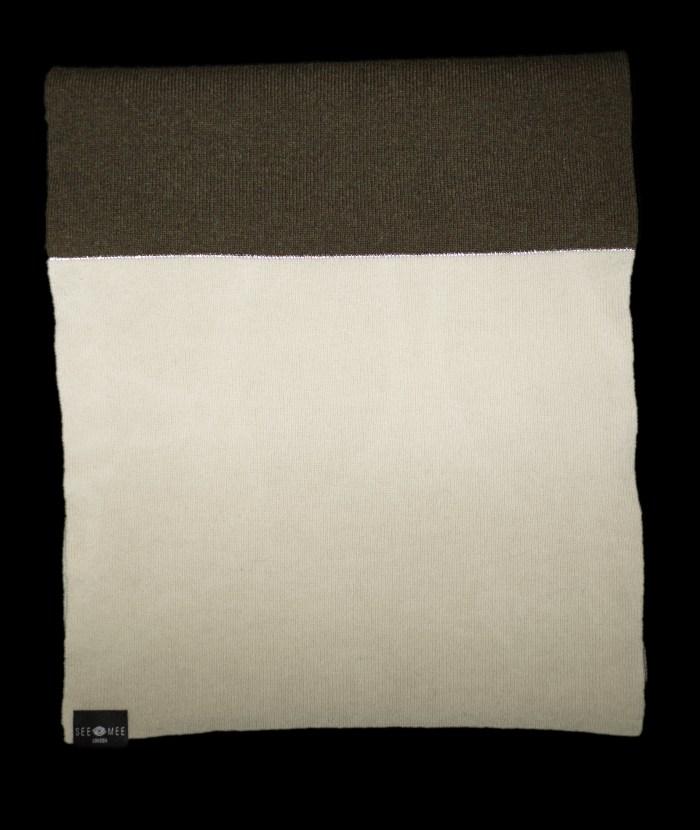 Emma Large White Reflective Cashmere Scarf