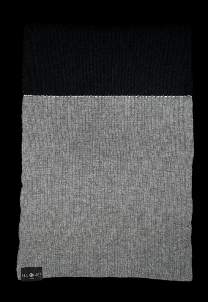 Emma Small Black Reflective Cashmere Scarf
