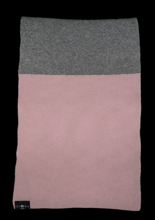 Emma Small Pink Reflective Cashmere Scarf
