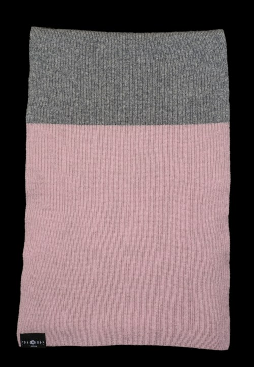 Emma Small Pink Cashmere Scarf