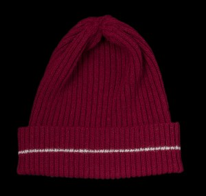 Nelly Burgundy Cashmere Rib Knit Hat