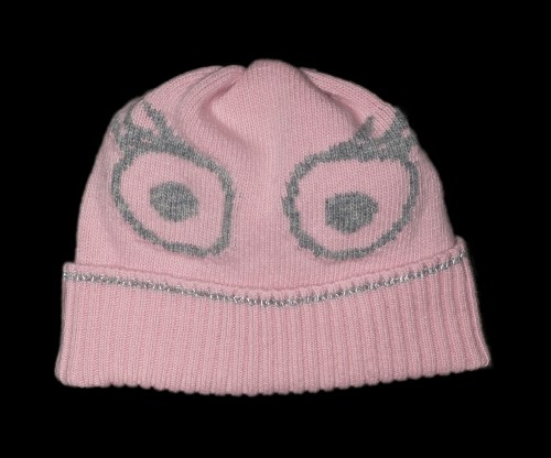 Sofia Pink Cashmere Reflective Hat
