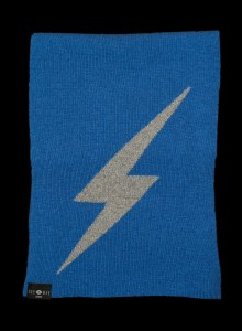 Thor Blue Small Lightening Bolt Cashmere Scarf