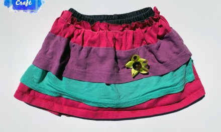 How to Upcycle Old Clothes into a Girl's Skort