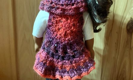 18″ Doll Vest Crochet Pattern