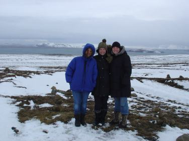 older, younger, and I at Þingvallavatn lake