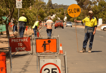 Council Worker Slow Sign