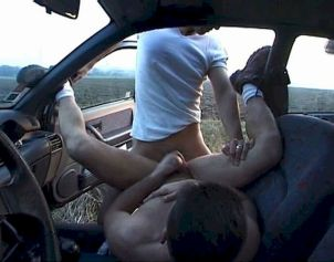 Fucking my Ex BF in the car - Outdoor gay sex video