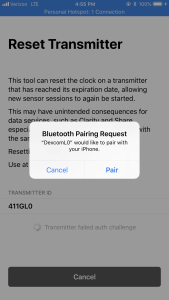 Reset G5/G6 Transmitters – See My CGM