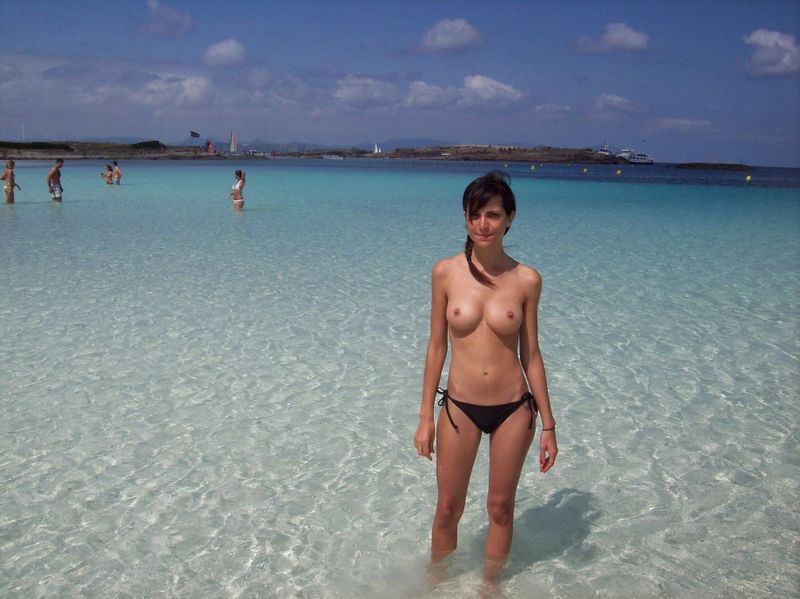 Topless in public videos