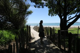 Fußweg zum Beach