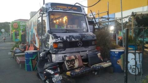 Strassencafe an der Cubastreet in Wellington