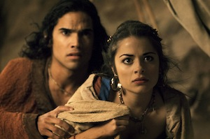 Reece Ritchie and Stephanie Leonidas star in BBC One's Atlantis. Photo: BBC