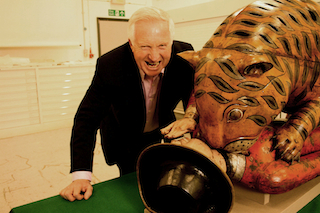 David Dimbleby and the Tipuís Tiger in the Victoria & Albert Museum. Picture: BBC
