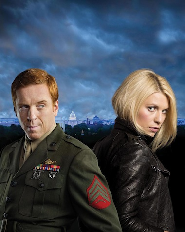 Damian Lewis as Nicholas Brody and Claire Danes as Carrie Mathison in HOMELAND.