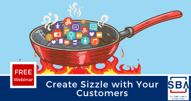 Create Sizzle with Your Customers Event Graphic